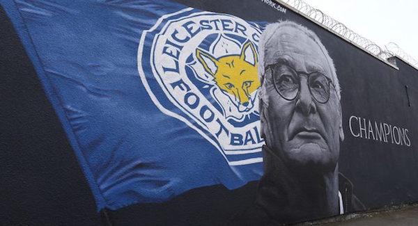 Murales dedicato a Claudio Ranieri e al Leicester campione 2016
