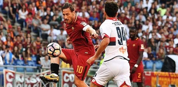 28.5.2017, Roma-Genoa 3-2: ultima gara in giallorosso di Francesco Totti