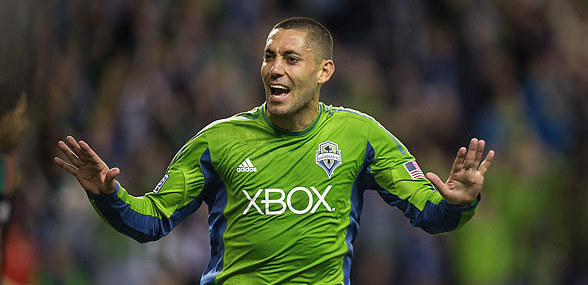Clint Dempsey (Seattle Sounders). Photo credit: Dean Rutz, The Seattle Times