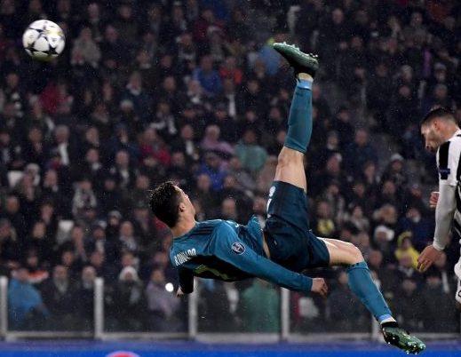 La rovesciata di Ronaldo contro la Juventus