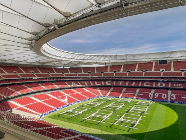 Lo stadio Wanda Metropolitano di Madrid