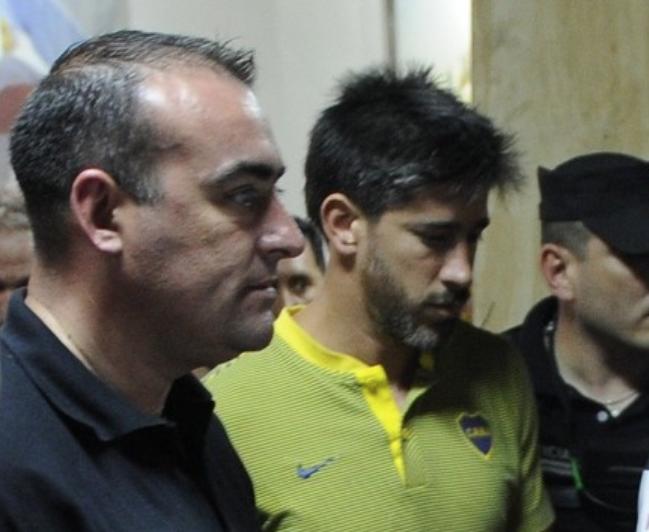 Pablo Perez (Boca Juniors), uno dei giocatori aggrediti dai tifosi del River