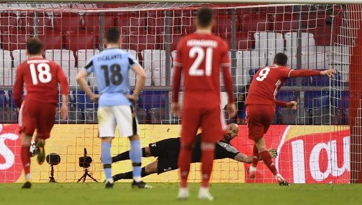 Bayern-Lazio 2-1, gol di Lewa