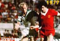 Liverpool 1977: il Liverpool conquista la sua prima Coppa dei Campioni superando a Roma il Borussia Moenchengladbach per 3-1