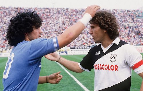 Maradona (Napoli) e Zico (Udinese)