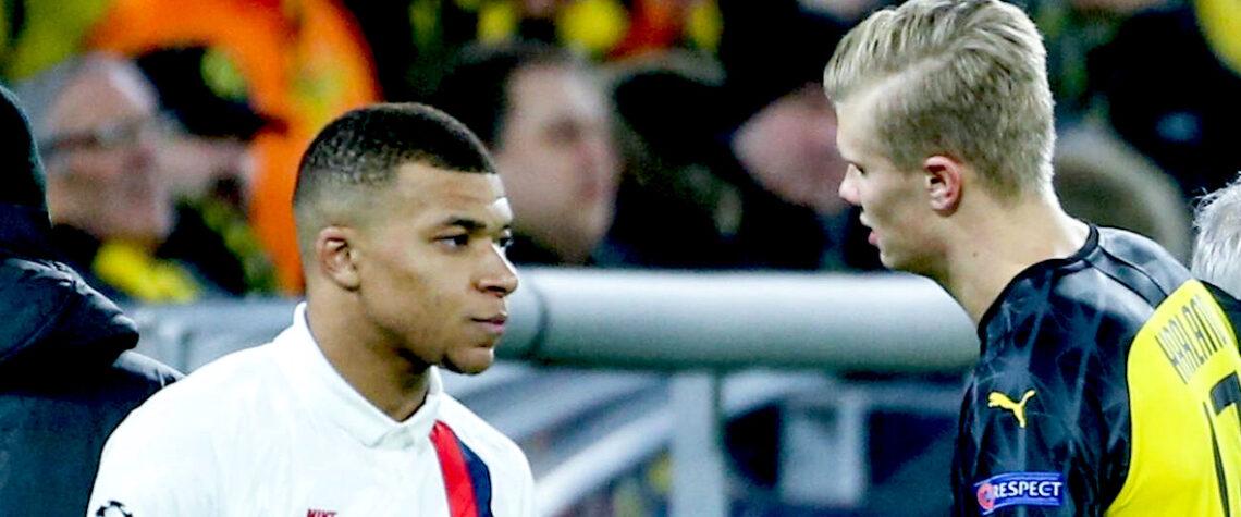 Mbappe (Psg) e Haaland (Borussia Dortmund)